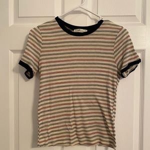 3 for $25 striped crop tee